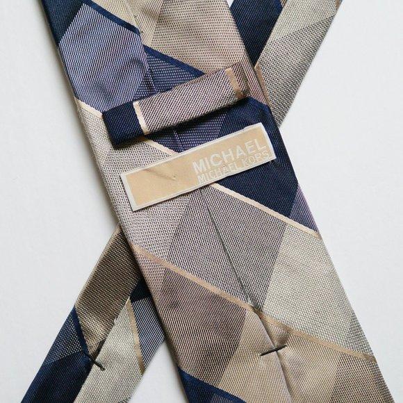 MICHAEL KORS - Blue/Bronze Striped Tie